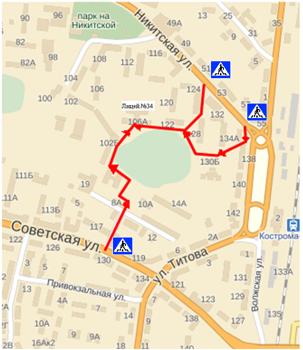 маршрут передвижения детей