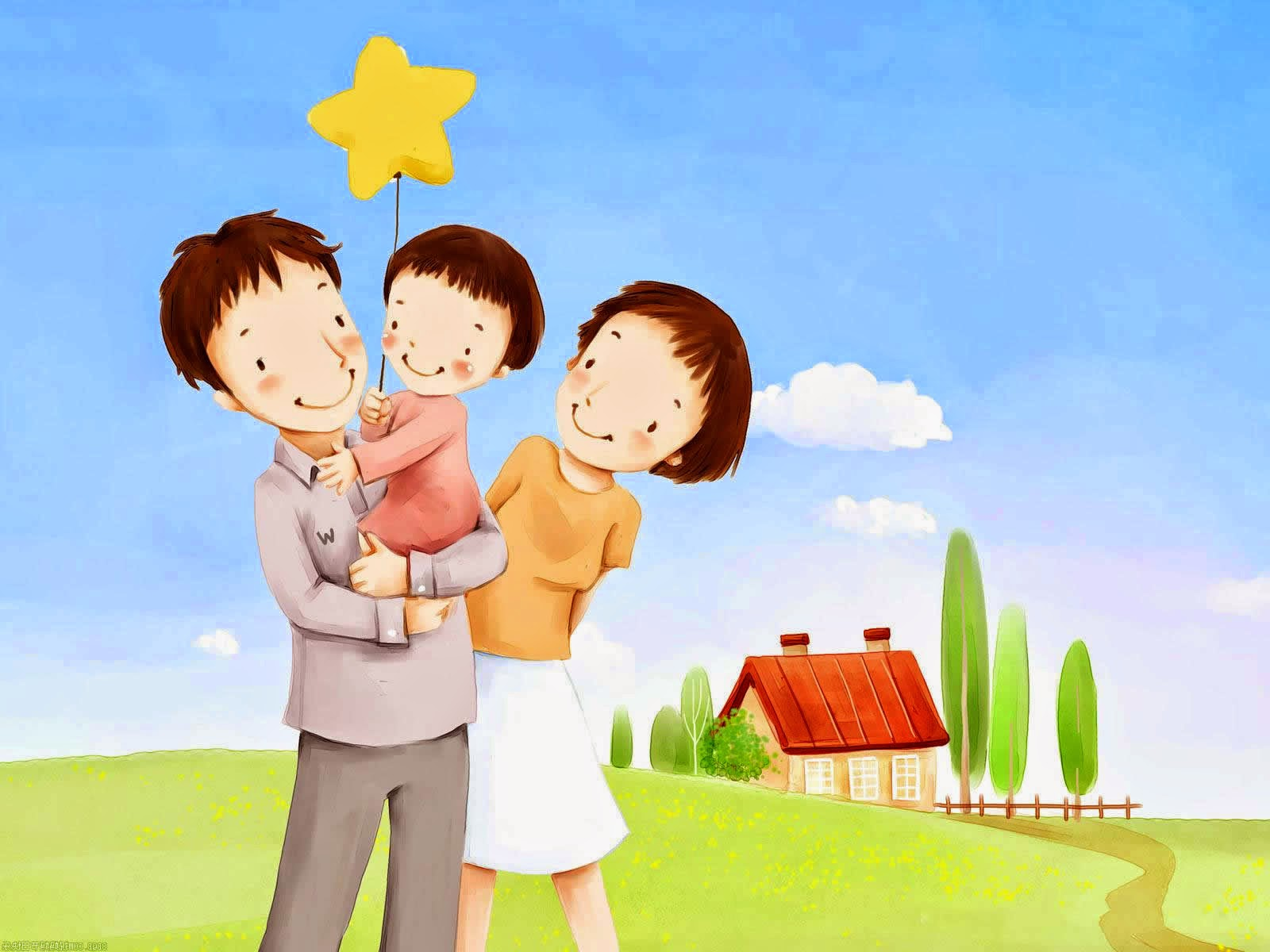 Lovely_illustration_of_Happy_family_on_sofa_wallcoo_com.jpg